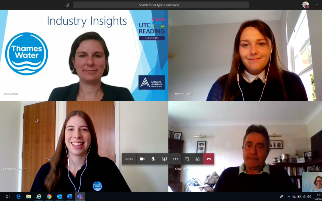 Students get access to weekly Industry Insight Talks with leading experts, with the first session held with Thames Water