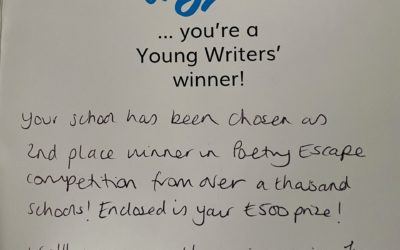 Theale Green School wins second place in the Young Writers' competition 'Poetry Escape'
